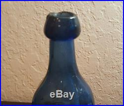 W. W. Lappeus Cobalt Premium Soda Or Mineral Water Iron Pontil Albany NY