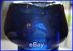 W. W. Lappeus Iron Pontil Albany NY antique bottle cobalt