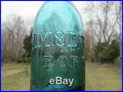 WM & DT COX PORT JERVIS NY 1850's Iron Pontil Pony Soda Sparklin Gem