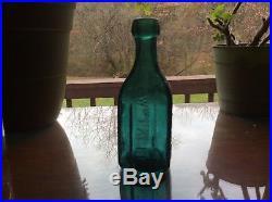 WM Eagle Premium Soda Water New York blob top iron pontil mineral water bottle