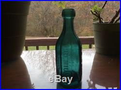 WM Eagle Premium Soda Water New York blob top iron pontil mineral water bottle