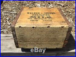 Walker -Gordon Certified Milk Box Primitive Wooden Antique 501 Madison Ave NY