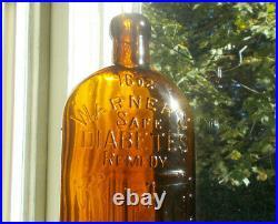 Warner's Safe DI Abetes Remedy 16 Oz Rochester, Ny Sparkling Near Mint Bold Emb
