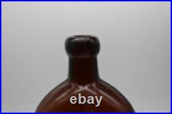 Warner's Safe Diabetic Cure Rochester NY 9-1/2 Amber Medicine Bottle