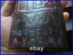 Warners Safe Cure Rochester Ny-u. S. A Large Amber Quack Cure Bottle