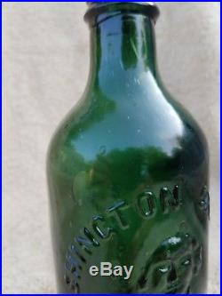 Washington Spring Co. Ballston Spa NY Congress water bottle, 1865-1870 MINT