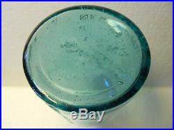 Whittled Mint Quart Aqua Geyser Spring Saratoga NY Mineral Spring Water Bottle