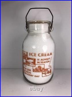 Wide Mouth Gallon Milk Jug / Milk Bottle Matthies Dairy Tonawanda, Ny Erie Co