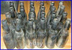 Wood Crate of 24 Johnnie Collins & Jones Soda Bottles 1920's Fonda, NY DIRTY