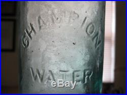 Wowice Blue 1 Pint (s-10) Champion Spouting Spring S. S. Limitedsaratoga, N. Y