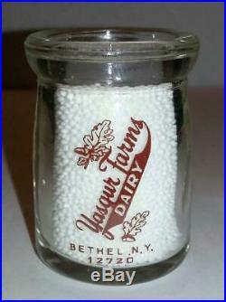 Yasgur Farms 3/4 oz Glass Creamer Bethel, NY