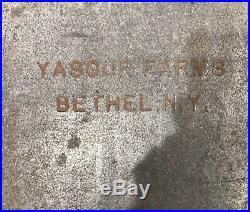 Yasgur Farms Bethel Ny Galvanized Porch Insulator Rare. Woodstock Music Festival