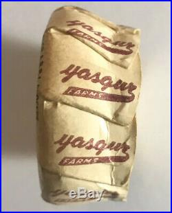 Yasgur Farms Bethel Ny Wax Paper Milk Bottle Cap Woodstock Music Festivalrare