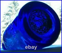 'rare'' J & A Dearborn & Co New York / Pontiled Cobalt Blue Soda